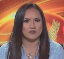 ECUADOR.- Stephanía Baldeón durante su entrevista en Contacto Directo. Foto: Ecuavisa