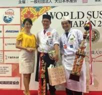 """Celso Hideji Amano fue el ganador de los """"Juegos Olímpicos del sushi"""", realizado en Japón."""