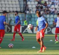 Felipe Caicedo estuvo en la banca de suplentes en el primer partido del Espanyol en la Liga.