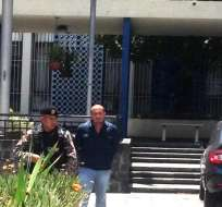 QUITO, Ecuador.- El exgerente de Petroecuador compareció ante la Fiscalía para rendir su versión. Foto: Redes sociales