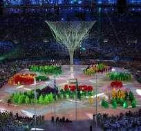 La ceremonia de clausura de Rio 2016 se realizó en el estadio Maracaná.  Foto: EFE