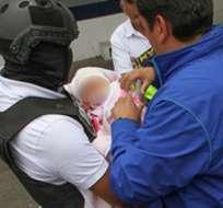 GUAYAQUIL, Ecuador.- Autoridades investigaron a la banda tras el caso de la bebé raptada en Cuenca en noviembre de 2015. Foto: Miniterio Interior.