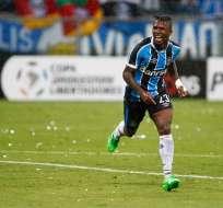 El delantero nacional es muy criticado por su nivel en el cuadro 'Tricolor'. Foto: Tomada de @SNewsGremio