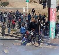 BOLIVIA.- El funcionario asesinado estaba en el lugar del bloqueo, en la población altiplánica de Panduro, buscando un acercamiento con los mineros. Foto: EFE