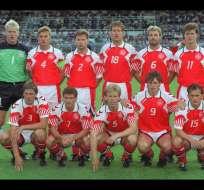 Dinamarca quedó campona de la Eurocopa 1992 a la que llegó como selección invitada. Foto: Tomada de la página  alineacionesinternacional.blogspot.com