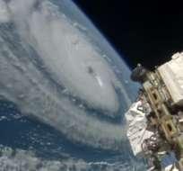 CIENCIA.- Las cámaras a bordo de la Estación Espacial Internacional capturaron las imágenes. Fotocaptura del video
