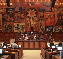 El Pleno de la Asamblea, durante el primer debate del proyecto de reformas al Issfa. Foto: Asamblea Nacional
