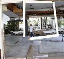 Una muestra de la destrucción que dejó Hermine en Florida. Foto: AFP