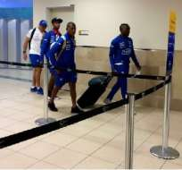 Los seleccionados arribaron al aeropuerto internacional Mariscal Sucre de Quito.