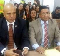 GUAYAQUIL, Ecuador.- La audiencia del caso Terrabienes se instaló el viernes 9 de septiembre y se retomó la mañana de este lunes 12. Foto: Twitter José Riofrío.