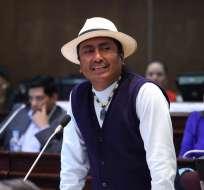 ECUADOR.- El representante de movimientos sociales aclara que son dos grabaciones distintas. Foto: Asamblea Nacional