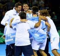 Argentina celebra el pase a la final de la Copa Davis donde enfrentará a Croacia.