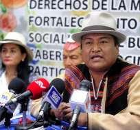 QUITO, Ecuador.- La Fenocin ha sido una organización cercana al Régimen e incluso uno de sus dirigentes, Pedro De La Cruz, es actualmente parlamentario andino. Foto: API