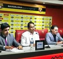 Alfaro Moreno (d.) se refirió a las declaraciones hechas pro Esteban dreer la semana pasada. foto: Tomada de la cuenta Twitter @BarcelonaSCweb