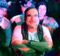 """El máximo líder de las FARC, Rodrigo Londoño Echeverri, alias """"Timochenko"""" (c), en la Décima Conferencia Nacional Guerrillera. Foto: EFE"""