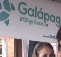 Los estudiantes de los colegios de Santa Cruz también se suman a la campaña #GalápagosEligeReciclar.