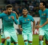 El FC Barcelona remontó el resultado en Alemania. Foto: AFP