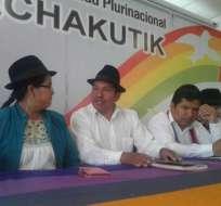 ECUADOR.- La precandidata Lourdes Tibán, confía en la decisión de Acuerdo Nacional por el Cambio. Foto: API