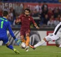 La Roma goleó 4-0 al Astra Girgiu por la segunda jornada del torneo continental. Foto: AFP