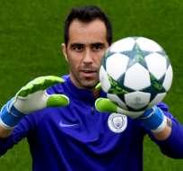 El portero del Manchester City se unió este lunes a sus compañeros. Foto: AFP
