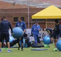 La selección ecuatoriana de fútbol volvió a entrenar en la Casa de la Selección. Foto: API