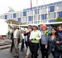 QUITO, Ecuador.- La diligencia duró cerca de una hora y en ella el acusado mantuvo la versión. Foto: API.