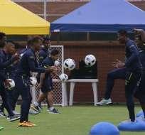 Ecuador trabaja en la Casa de la Selección de cara a su partido ante Chile.