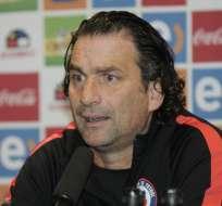 Juan Antonio Pizzi dio una rueda de prensa en Guayaquil. Foto: API