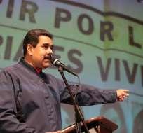 El presidente de Venezuela, NicolásMaduro, en un acto de Gobierno en Caracas. Foto: EFE