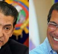 Lucio Gutiérrez y Jimmy Jairala, líderes políticos de los movimientos Sociedad Patriótica y Centro Democrático, aseguran que sus agrupaciones aún no definen su postura. Foto: Collage.