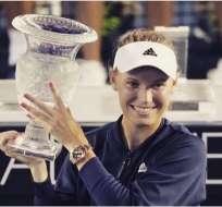 La danesa Caroline Wozniacki ganó su segundo título en lo que va de la temporada.
