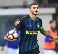 Mauro Icardi es el capitán del Inter de Milán y recientemente renovó su contrato. Foto: AFP