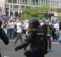 Hinchas violentos del Legia protagonizaron incidentes con la Policía española.