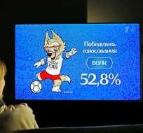 Zabivaka fue el escogido por el público ruso y le ganó al tigre siberiano y al gato común. Foto: EFE
