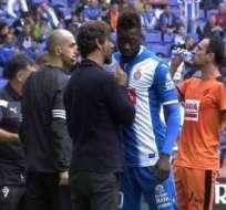 Quique Sánchez Flores habló con Felipe Caicedo luego de su expulsión ante Eibar.