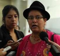 ECUADOR.- La dirigente de Pachakutik habló de las opciones de binomio del candidato Paco Moncayo. Foto: Archivo
