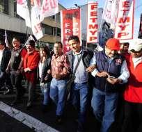 Varias organizaciones sociales partieron desde la Caja del Seguro en la capital de la República. Foto: API