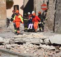 ITALIA.- El sismo de 6.5 grados se registró en Norcia, localidad que tembló el miércoles pasado. Foto: EFE
