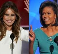 EE.UU.- Melania Trump sucederá como primera dama a Michelle Obama, el 20 de enero de 2017. Collage: Internet