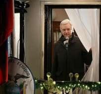 El mandatario se refirió por primera vez en estos términos sobre Assange. Foto: Archivo AFP