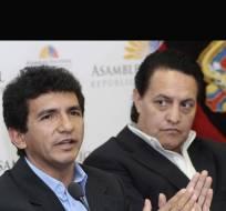 ECUADOR.- El juez Jorge Blum dejó sin efecto la decisión de su colega que había acogido la apelación a favor de Jiménez (i) y Villavicencio. Foto: Archivo