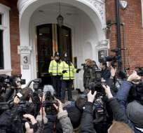 LONDRES, Inglaterra.- El resultado será emitido por escrito y posteriormente por Ecuador a los fiscales suecos. Foto: AFP