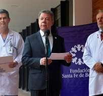 BOGOTÀ, Colombia.- Santos, electo por primera vez en 2010, debe gobernar hasta agosto de 2018. Foto: EFE.