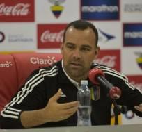 El entrenador venezolano cree que la altura afectó a sus jugadores. Foto: AFP
