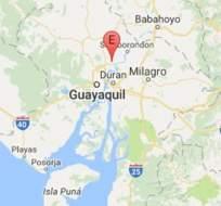 SAMBORONDÓN, Guayas.- De acuerdo con la entidad, el movimiento telúrico tuvo una profundidad de 57.72 kilómetros.  Foto: Instituto Geofísico.