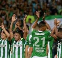 El conjunto 'verdolaga' jugará la final de la Sudamericana ante Chapecoense. Foto: AFP
