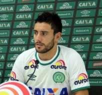 El defensa brasileño fue uno de los seis sobrevivientes del accidente aéreo de la erolínea LAMIA. Foto: Tomada de http://www.wapa.pe