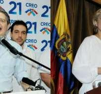 Guillermo Lasso y Cynthia Viteri proponen derogar ley de ser elegidos como autoridades. Foto: Collage.