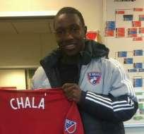 Aníbal Chalá firmó por tres temporadas con el Dallas FC de la MLS, donde será compañero de Carlos Gruezo.