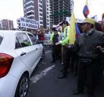 Ciudadanos pidieron a los vehículos que piten en contra del proyecto de Ley de Plusvalía. Foto: API